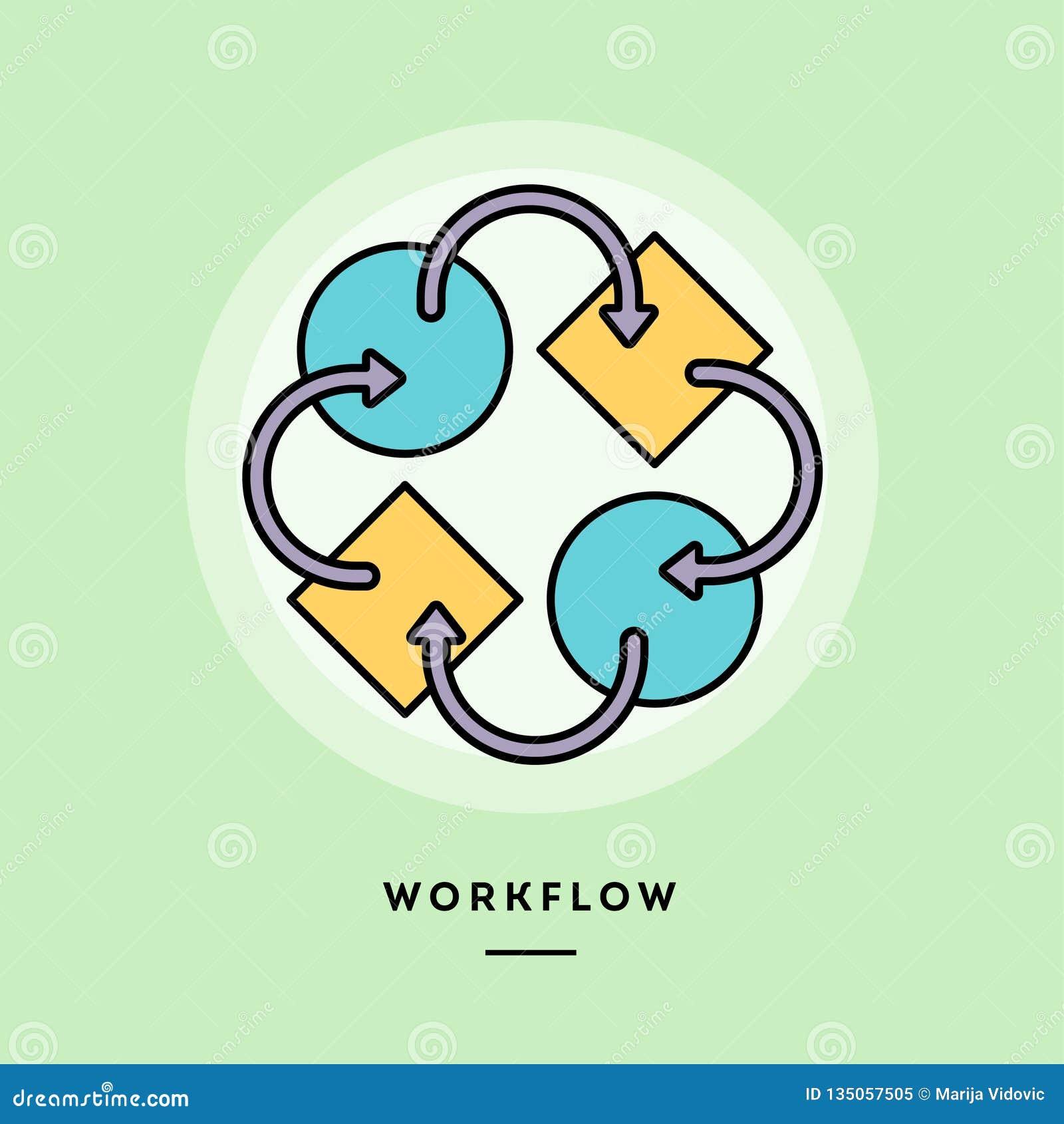 Workflow tunn linje baner för plan design