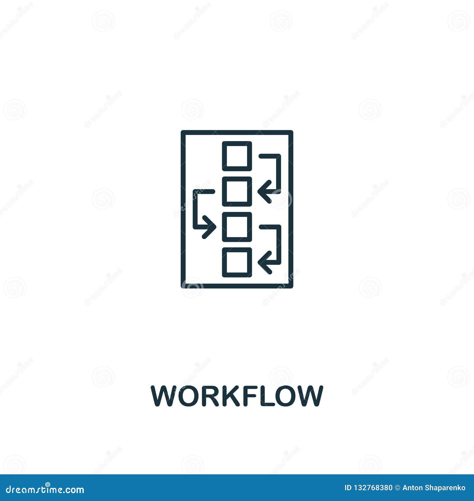 Workflowsymbol Högvärdig stildesign från designui och uxsymbolssamling Perfekt Workflowsymbol för PIXEL för rengöringsdukdesign,