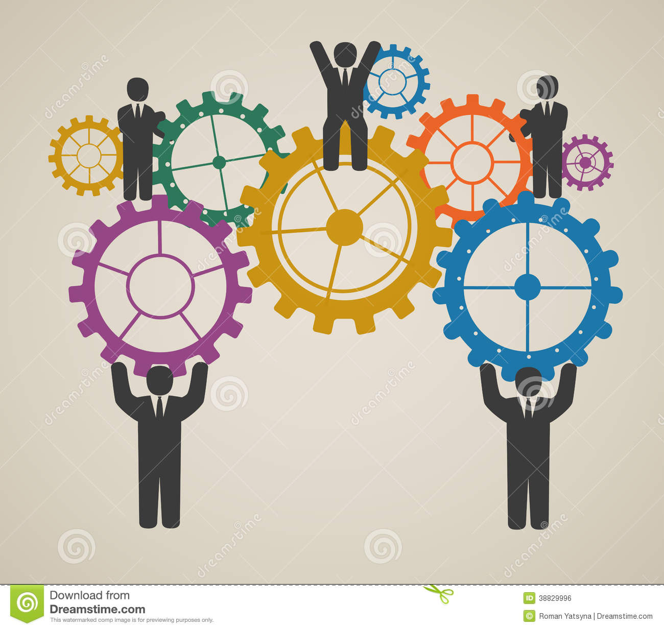 workforce team working business people in motion stock vector workforce team working business people in motion