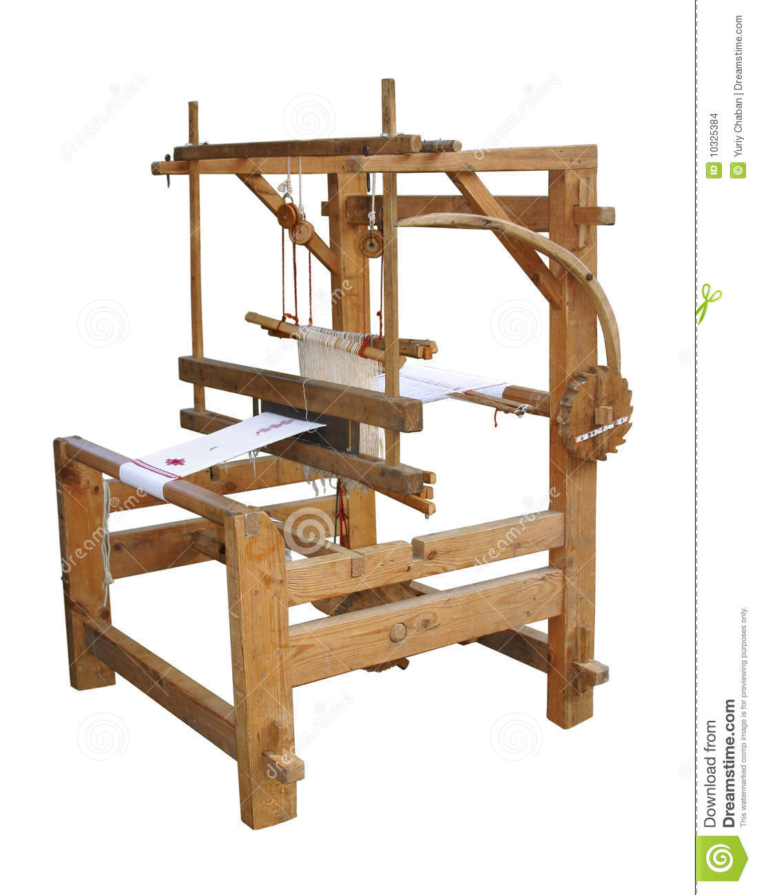 Working Ancient Loom Stock Images - Image: 10325384