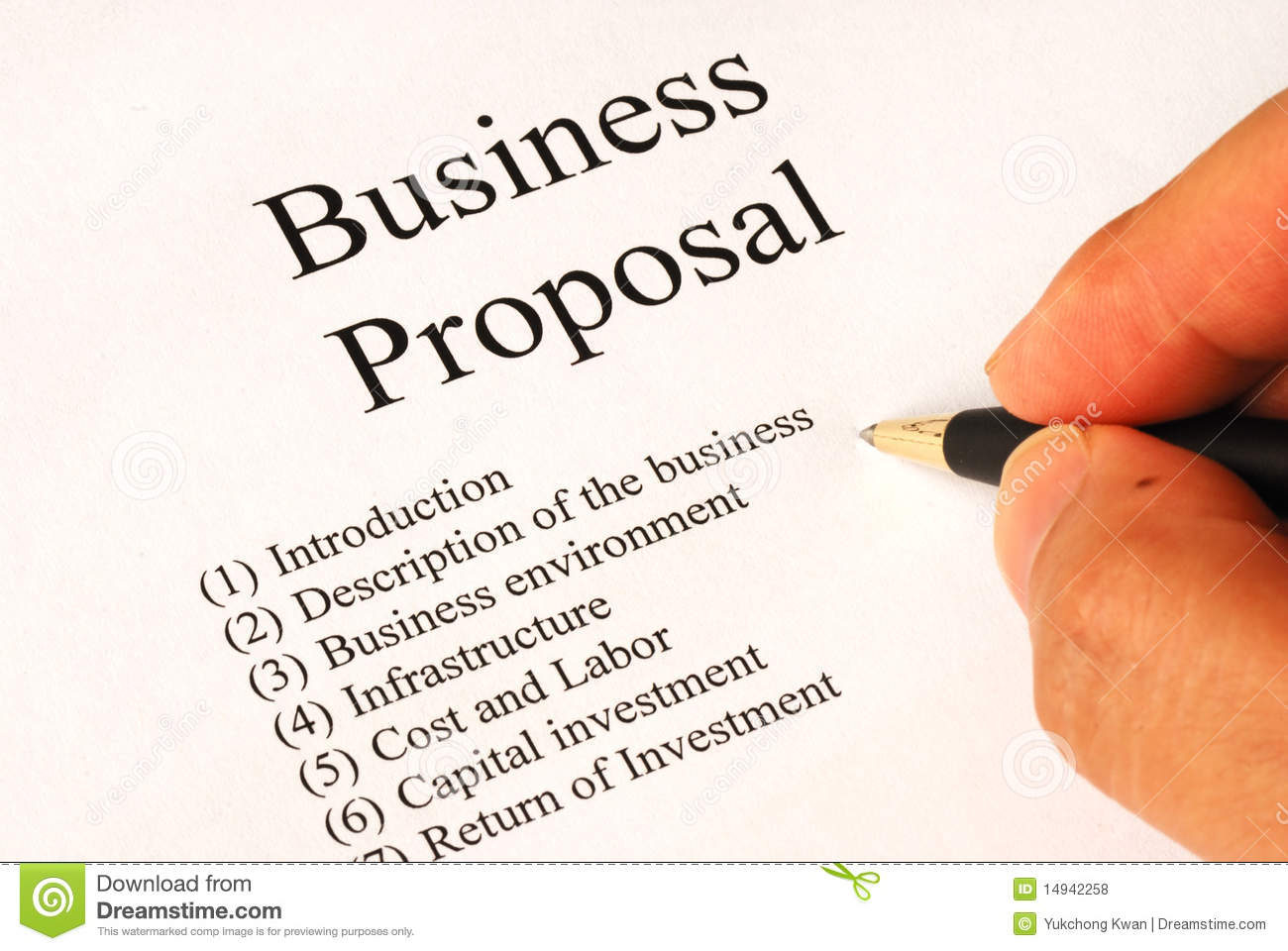 Business Proposal Clipart On the business proposal