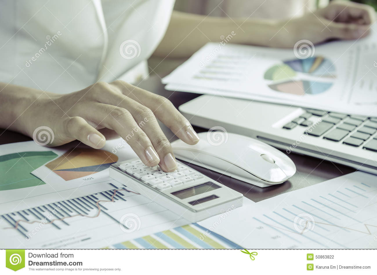 Working With Calculator Stock Photo Image Of Email Data