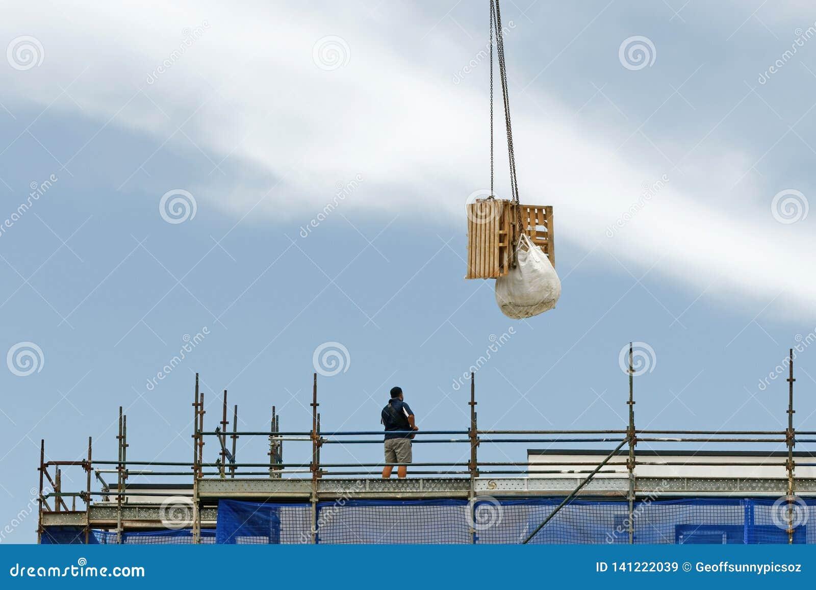 Working construction crane operation. Update 179 . Gosford. January 2019