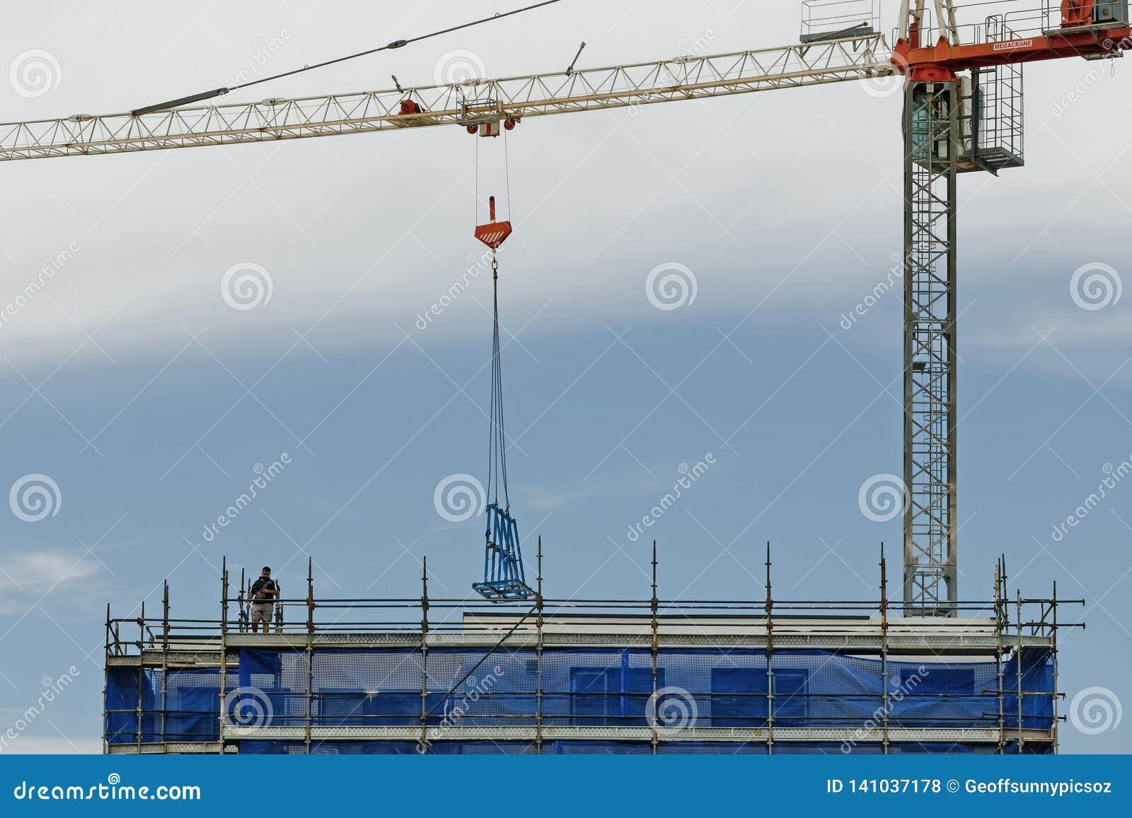 Working construction crane. Update 168. Gosford. January 2019