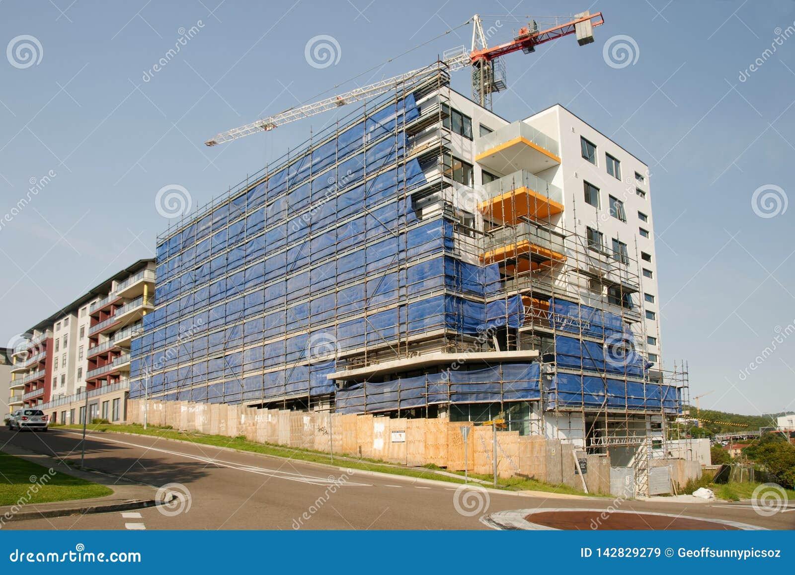 Working construction crane. Update 196 . Gosford. March, 2019