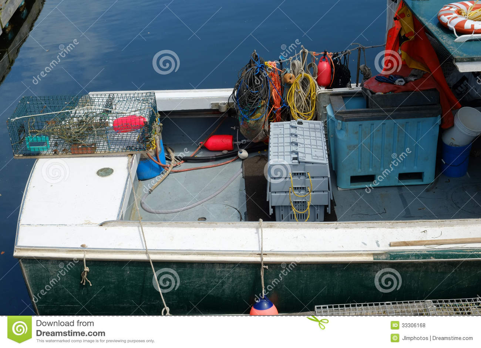 Working Gear on a Lobster boat