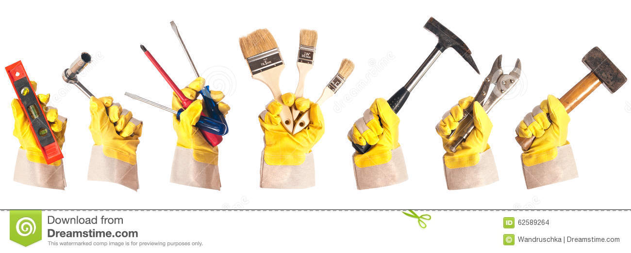 Working gloves with tools