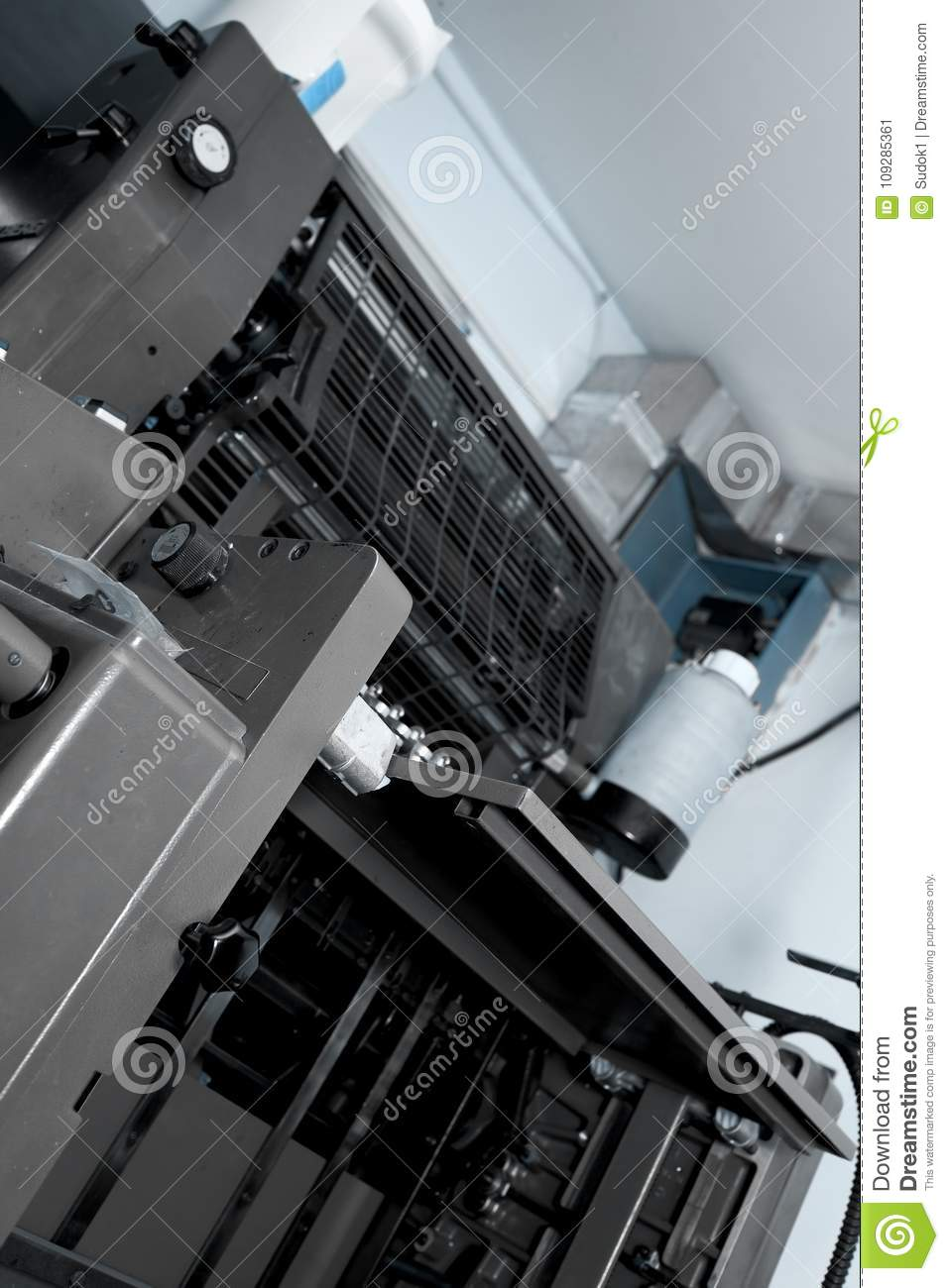 Working Industrial Machine In The Basement Of Building Stock Image Image Of Shop Machinery 109285361