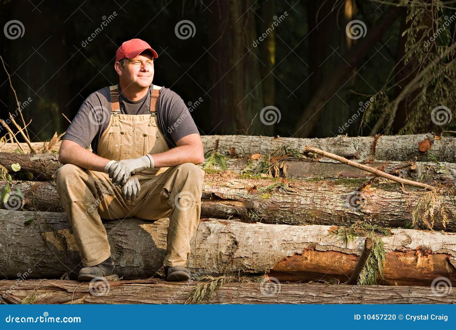 Working man taking a break
