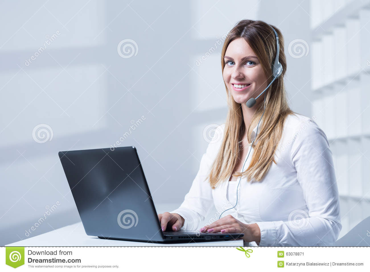 Working In Modern Office Stock Photo