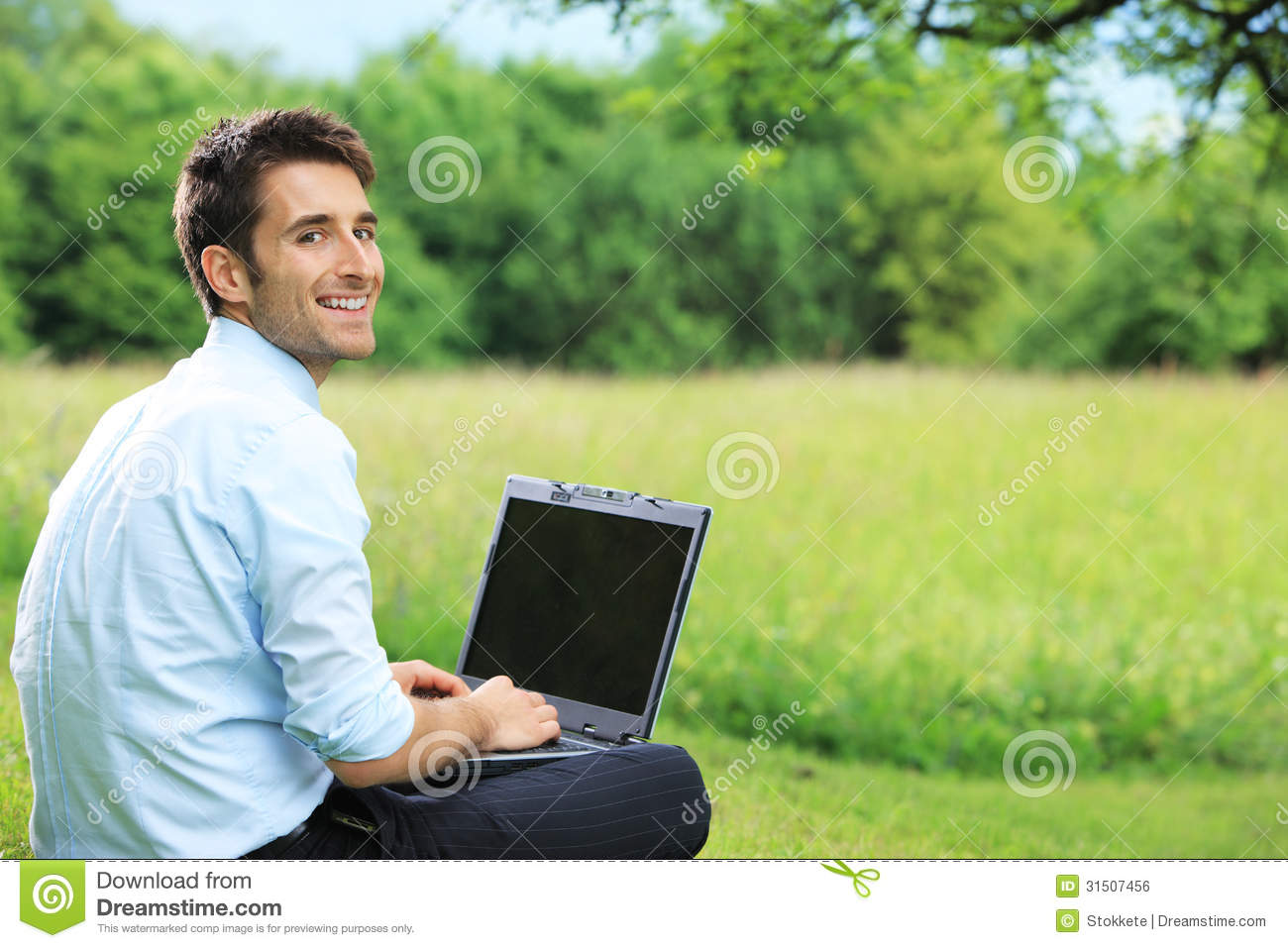 Working Outdoors Royalty Free Stock Image - Image: 31507456