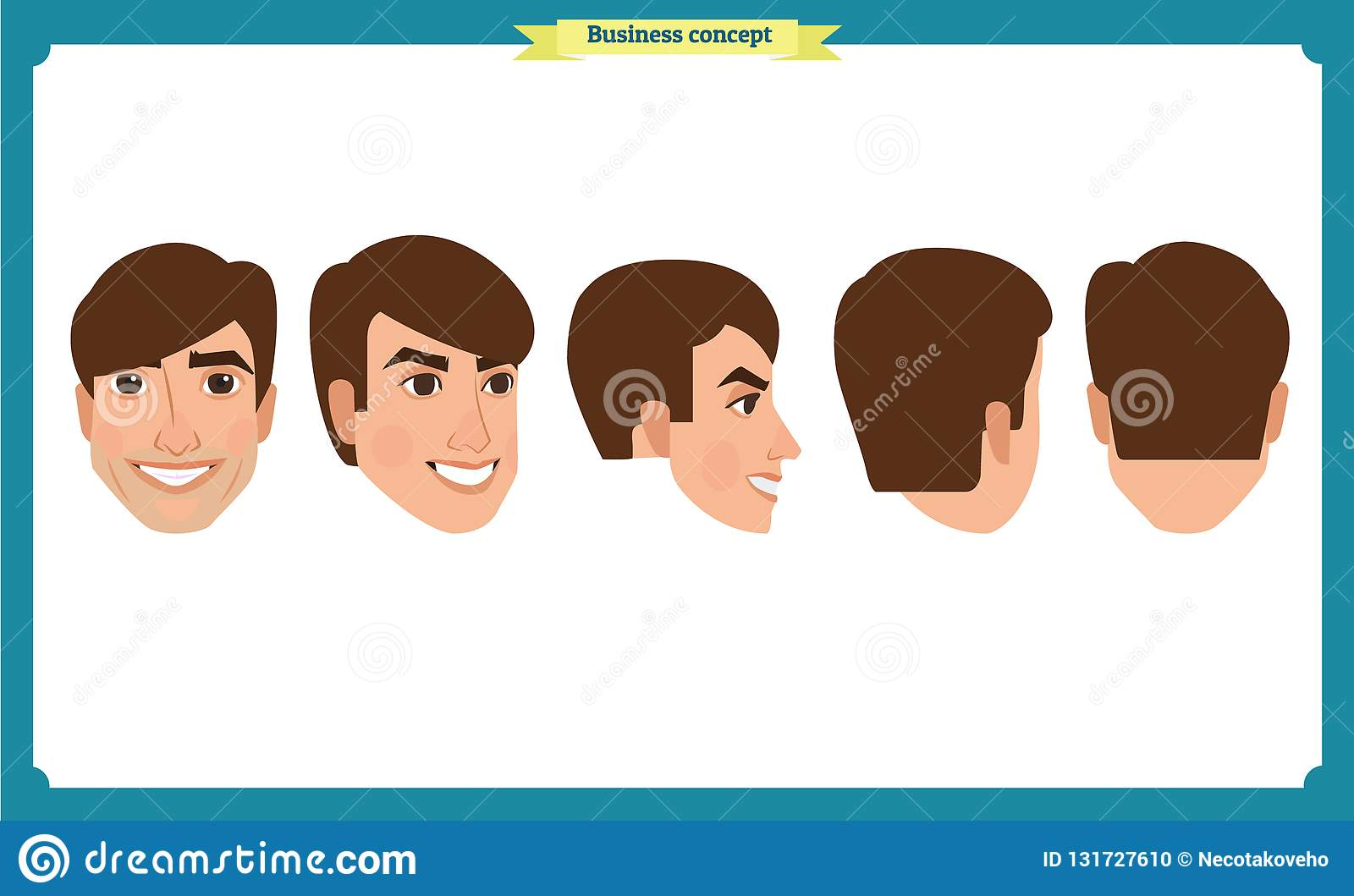 Working People, Business Man Avatar Icons Flat Design People