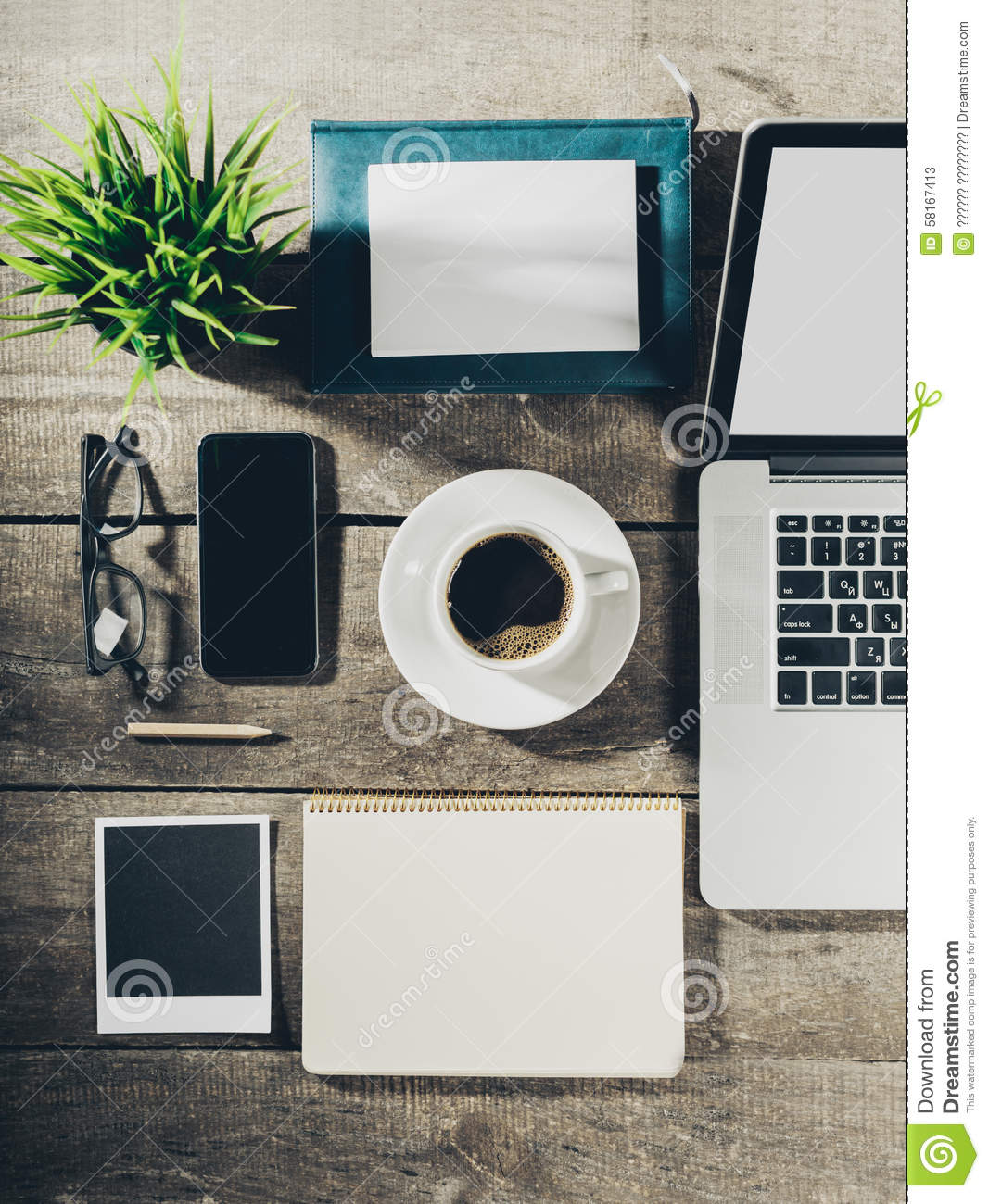 Working place, office tools
