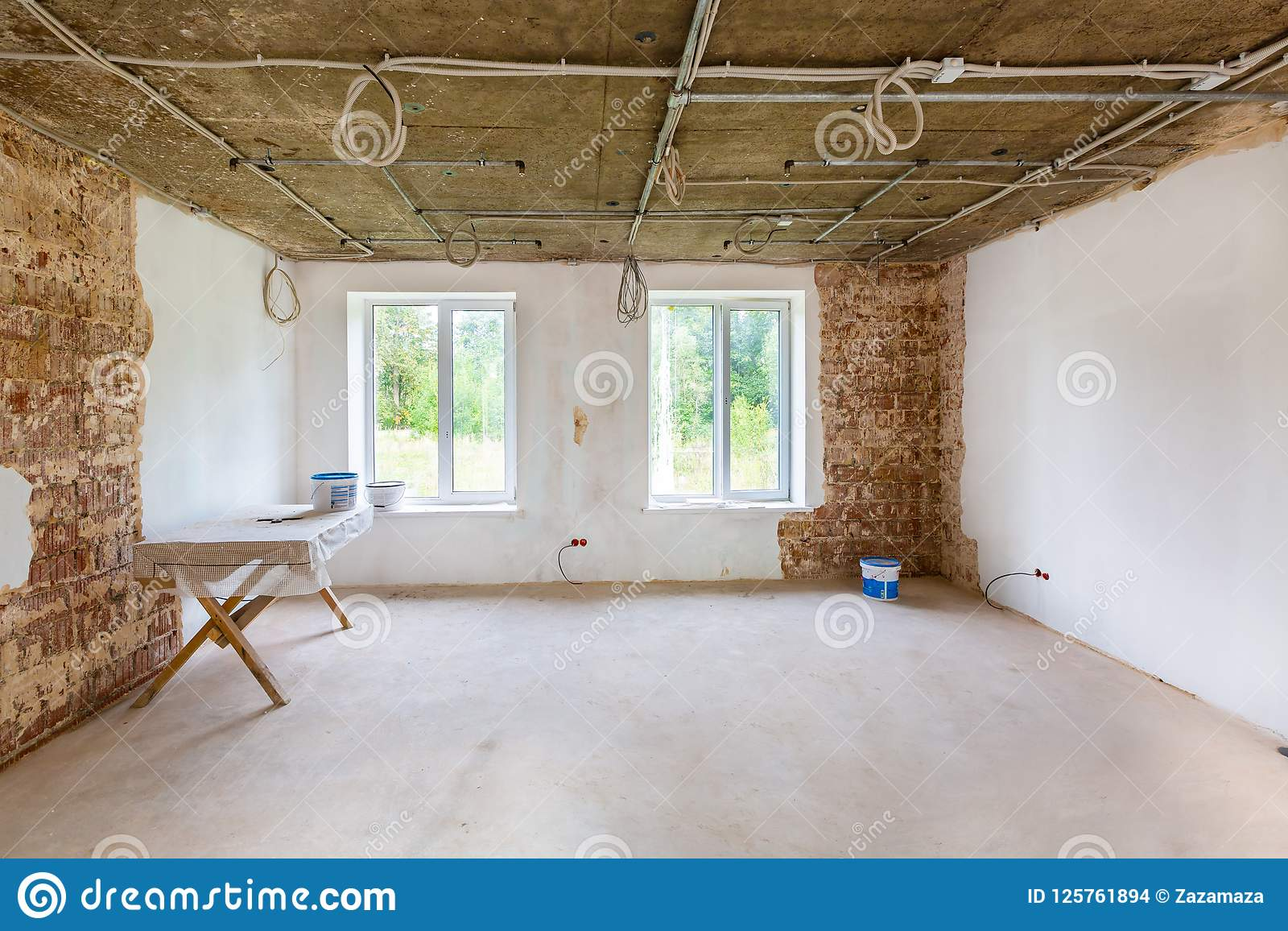 Working Process Of Installing Metal Frames For Plasterboard -drywall ...