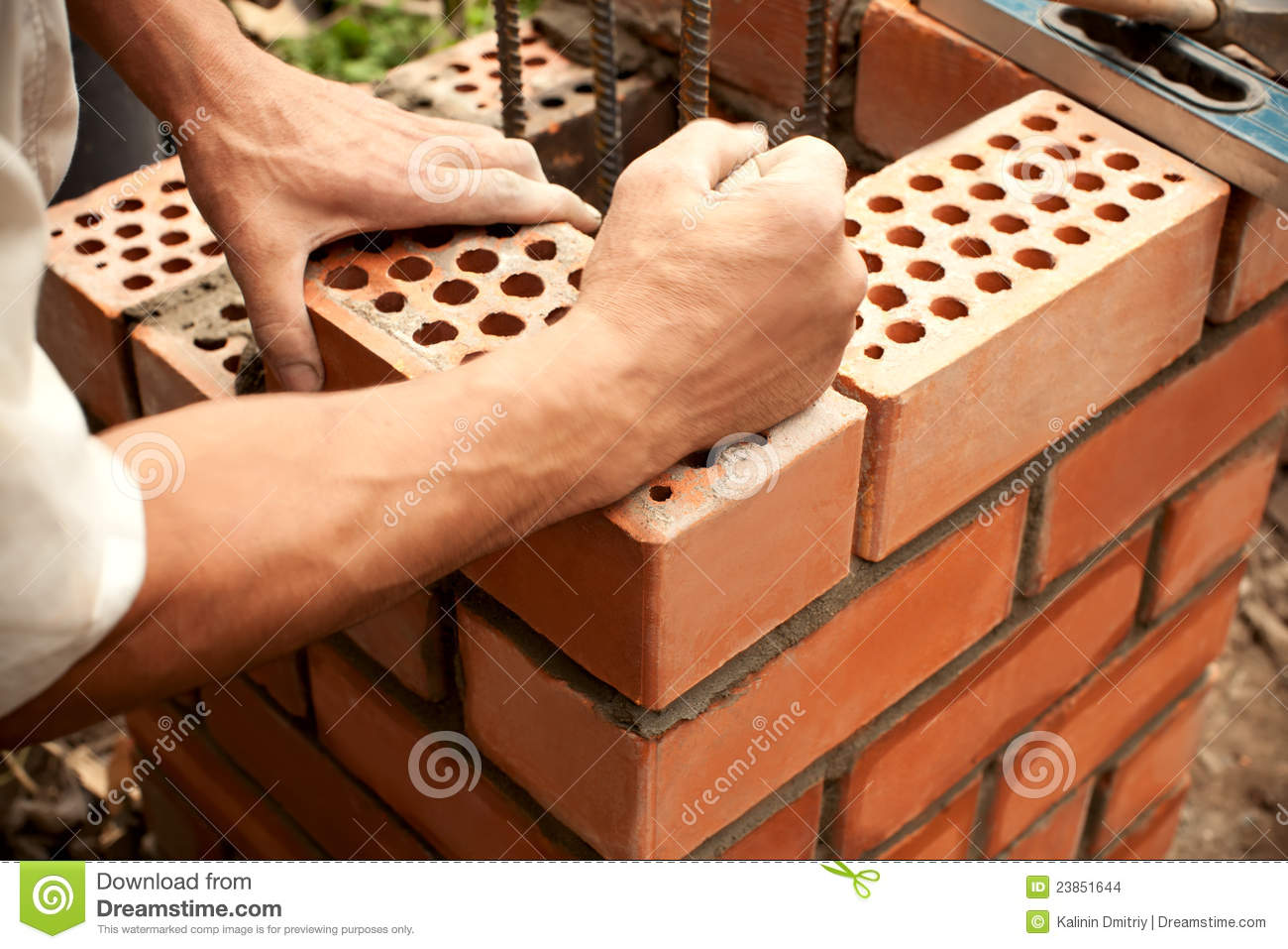 working in progress bricks laying stock photo image of contractors brickwork 23851644. Black Bedroom Furniture Sets. Home Design Ideas