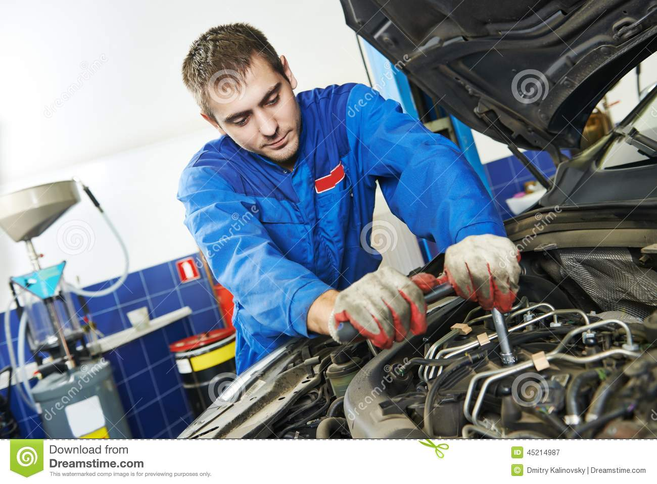 Automotive industry and service station