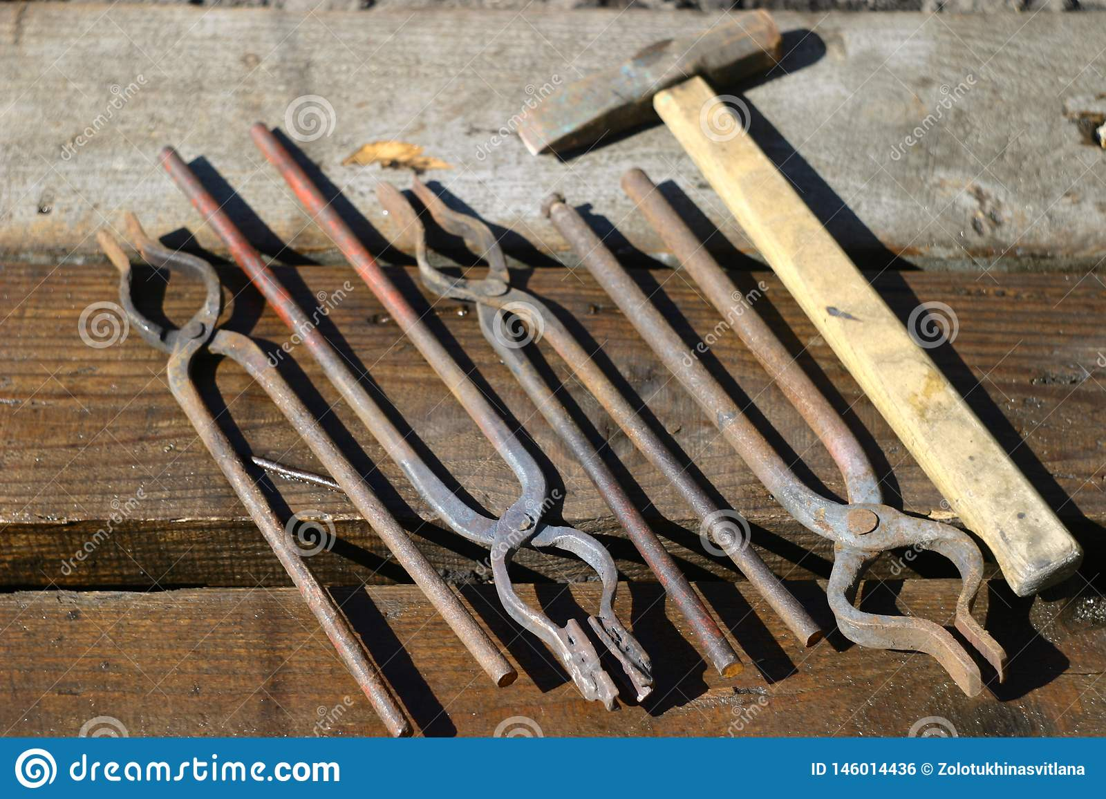 Working Tools For The Blacksmith  Stock Photo - Image of blacksmith