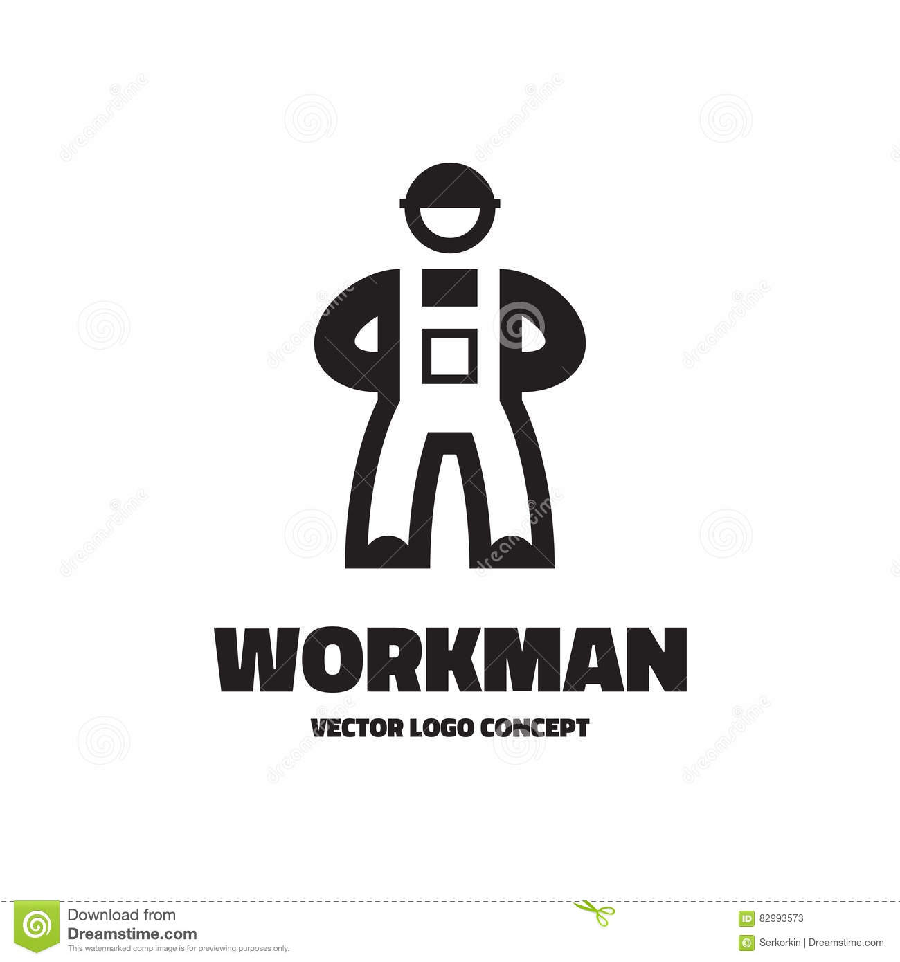 workman vector logo template illustration worker sign concept
