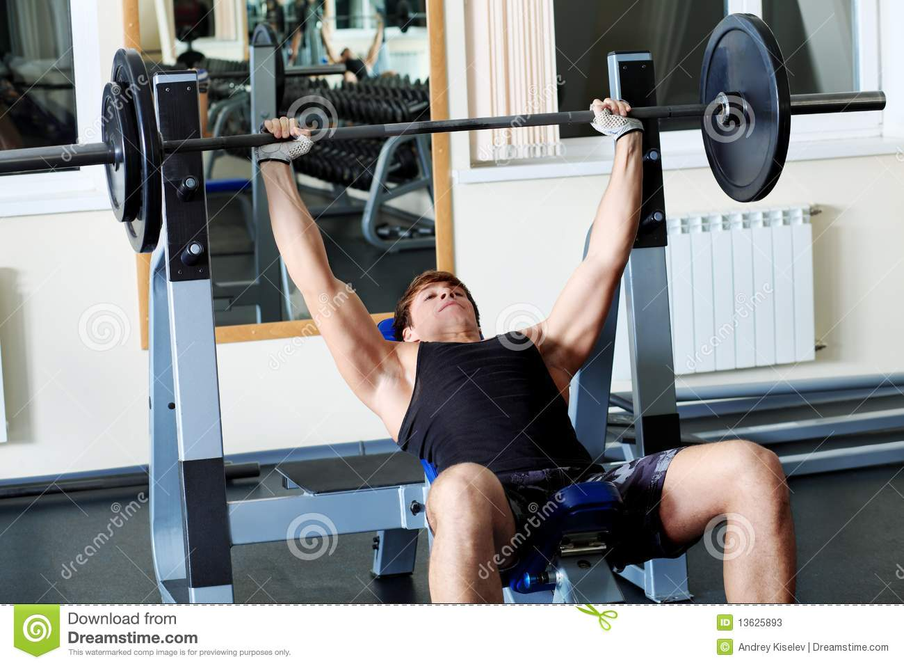 Workout stock image. Image of male, anatomy, equipment - 13625893