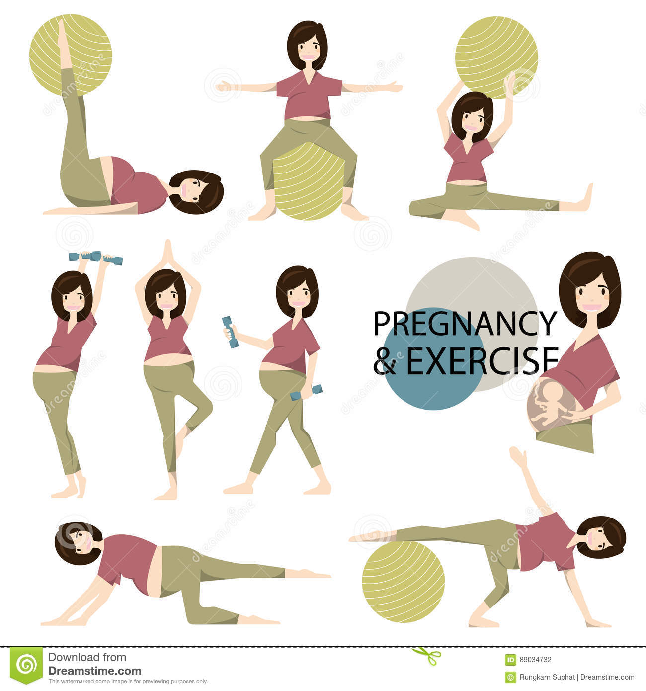 Workout for pregnant set yoga training for healthy pregnancyctor workout for pregnant set yoga training for healthy pregnancy ctorillustration kristyandbryce Images