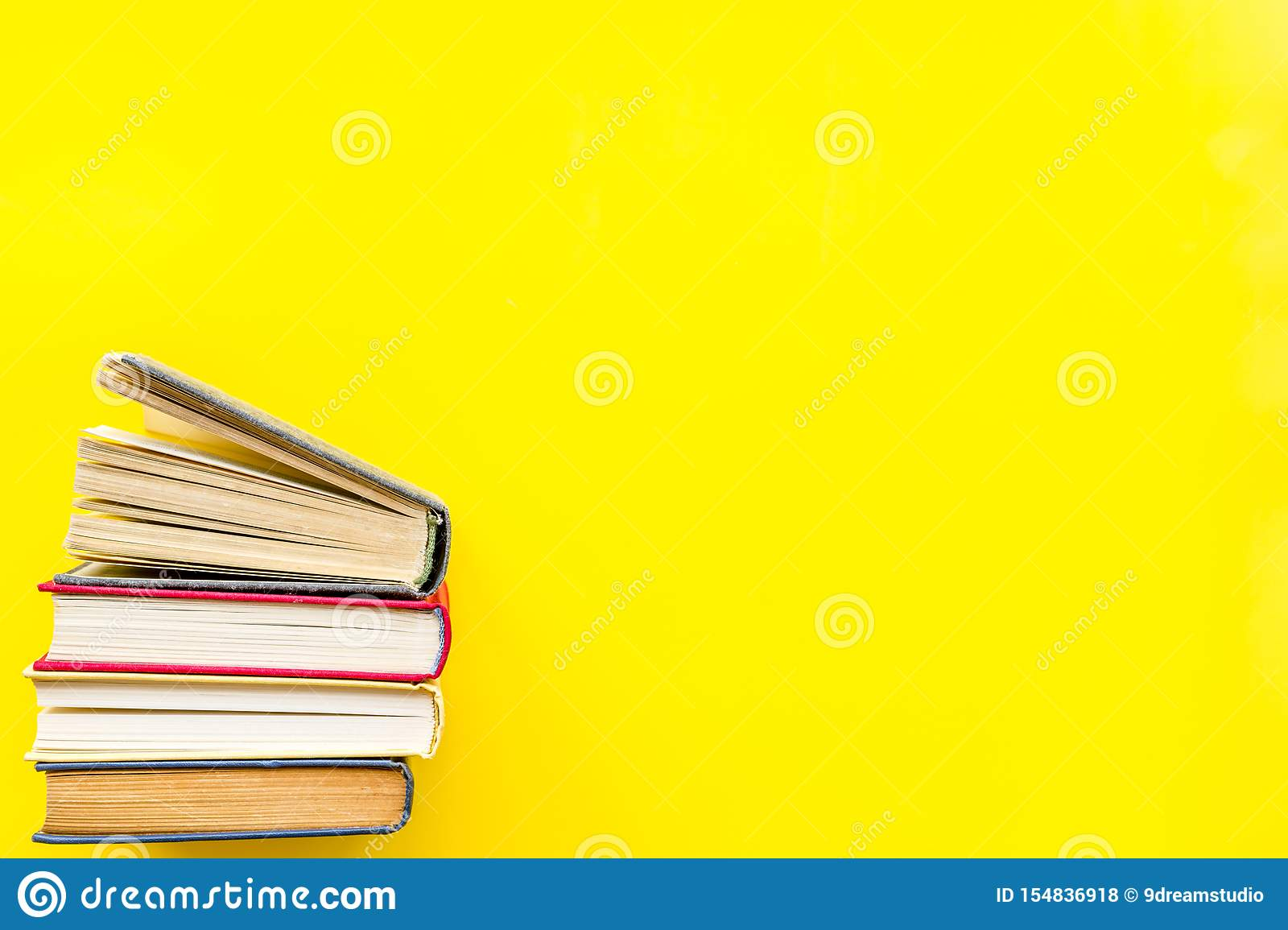 Download Workplace With Books On Yellow Background Flatlay Mockup Stock Photo Image Of Desk Education 154836918 Yellowimages Mockups