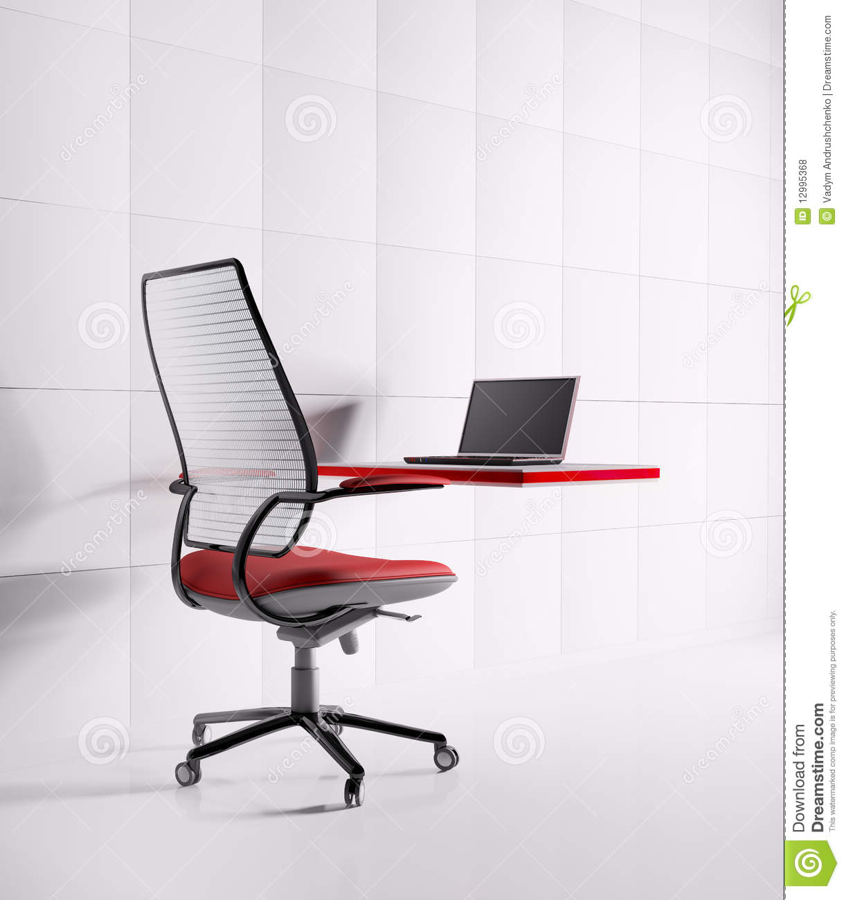 Laptop Chair Desk Workplace Laptopchairtable Royalty Free Stock Photos Image