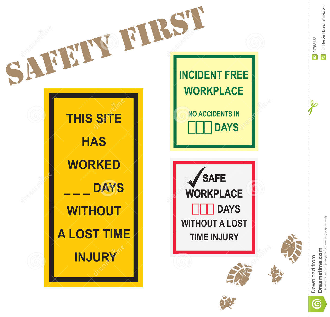 Workplace Safety Signs Stock Photography - Image: 29782432