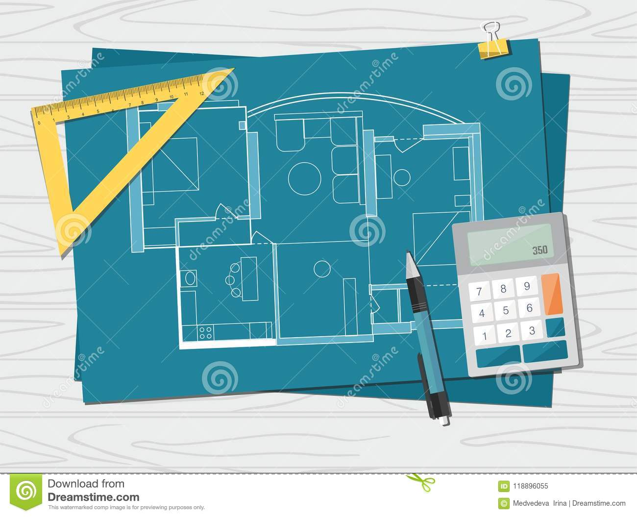 Workplace technical project architect house plan blueprint download workplace technical project architect house plan blueprint construction background stock vector malvernweather Images