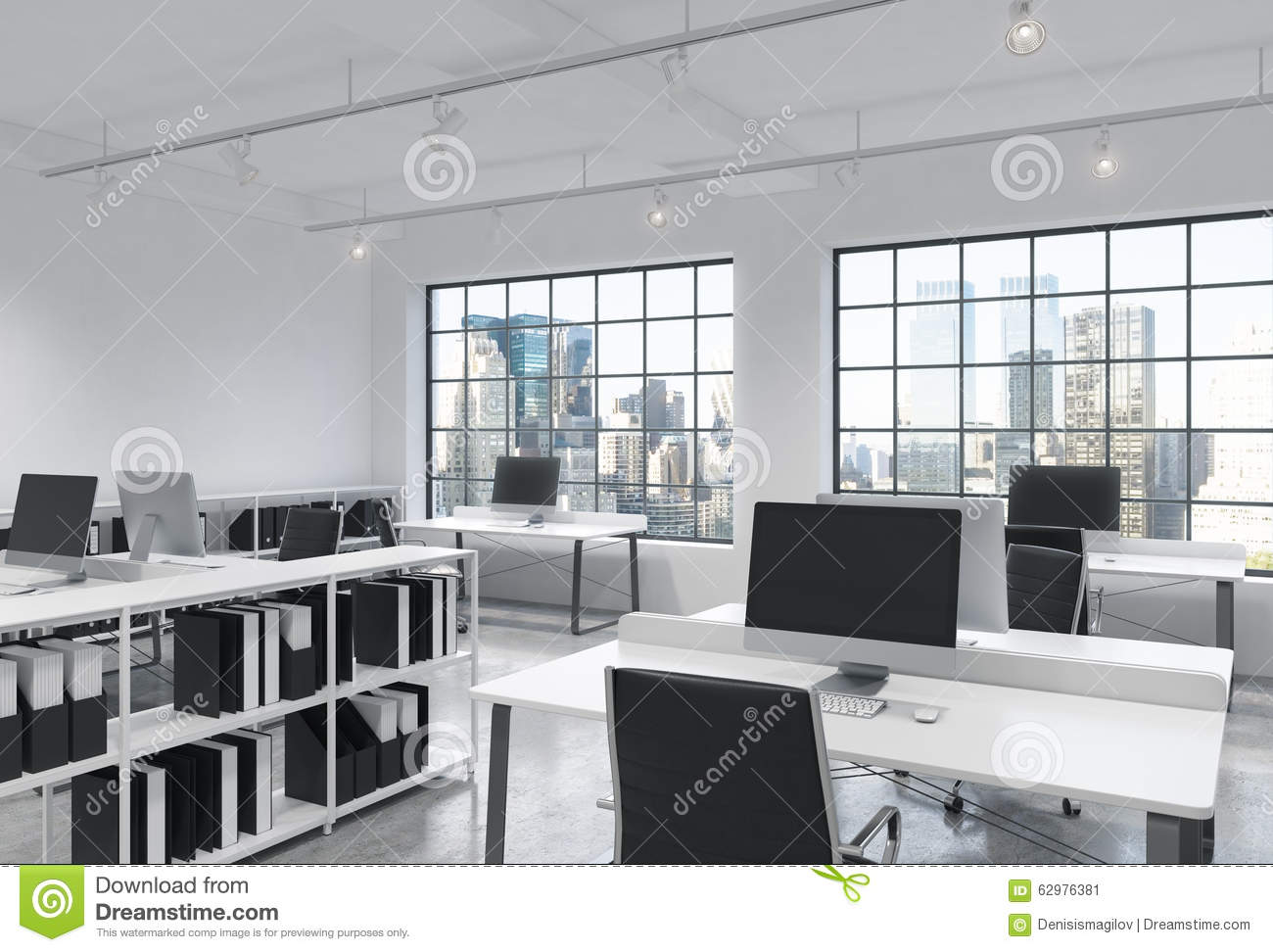 100 modern loft industrial modern loft apartment living u0026 dining room design a small - Small office space nyc concept ...