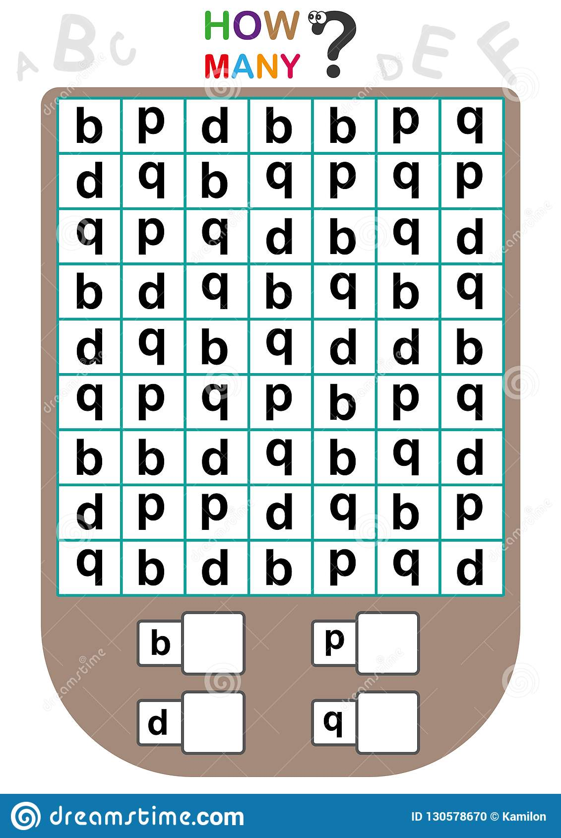 Worksheet For Kids, Count The Number Of Letters, Learn The ...