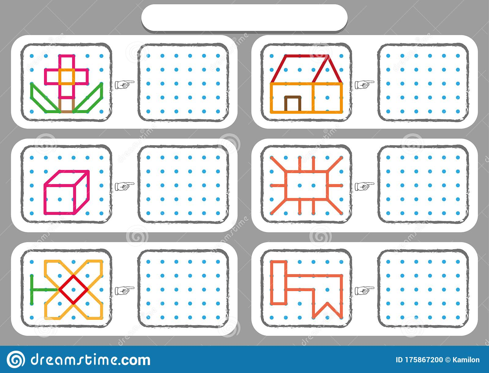 Worksheet For Preschool Kids Dot To Dot Copy Practice Copy The Shapes Visual Perception Activities Stock Vector Illustration Of Digit Logical 175867200
