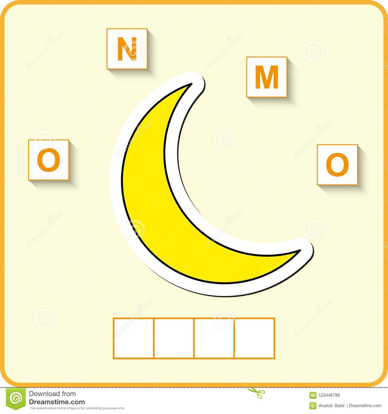 Worksheet For Education Words Puzzle Educational Game For Children Place The Letters In Right Order Stock Vector Illustration Of Activity Complete 123446786