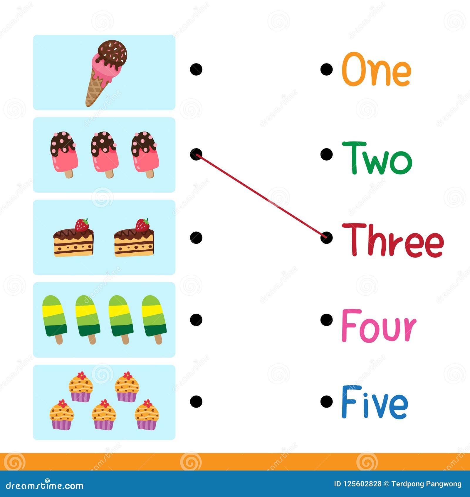 Worksheet Vector Design For Kid Stock Illustration - Illustration of ...