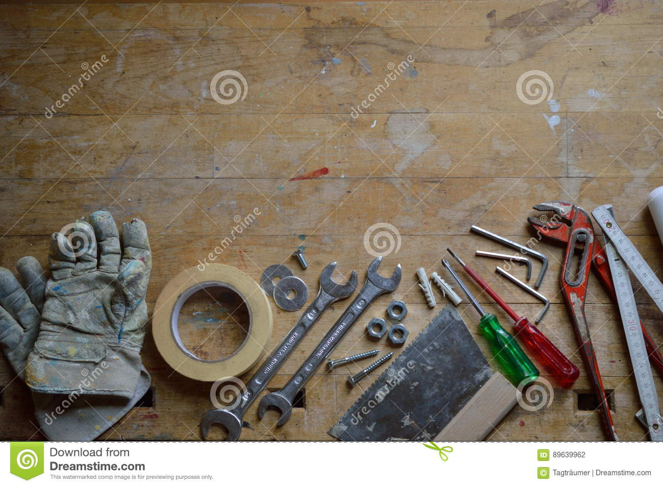 Workshop with tools for handyman