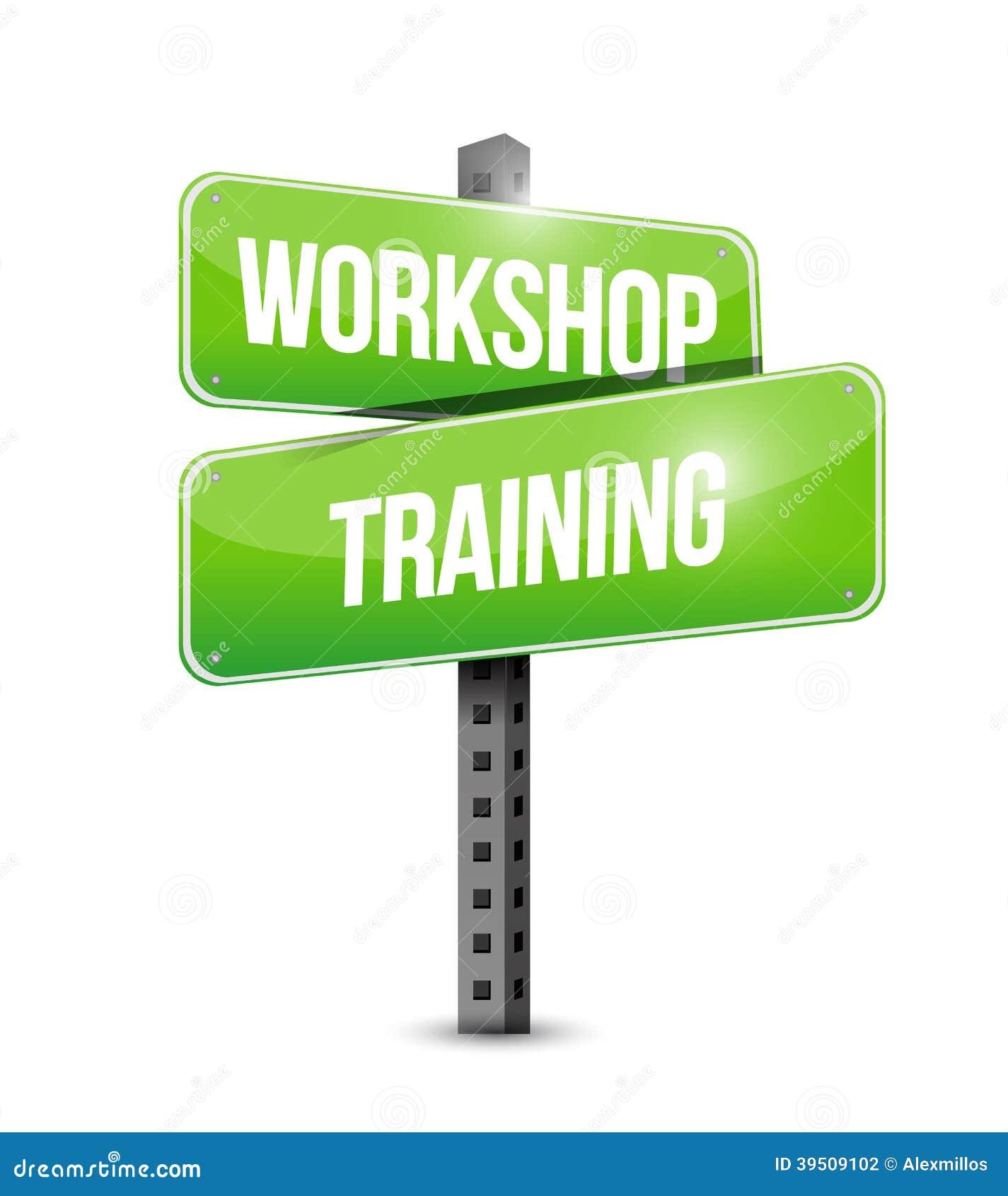 Workshop training street sign illustration design