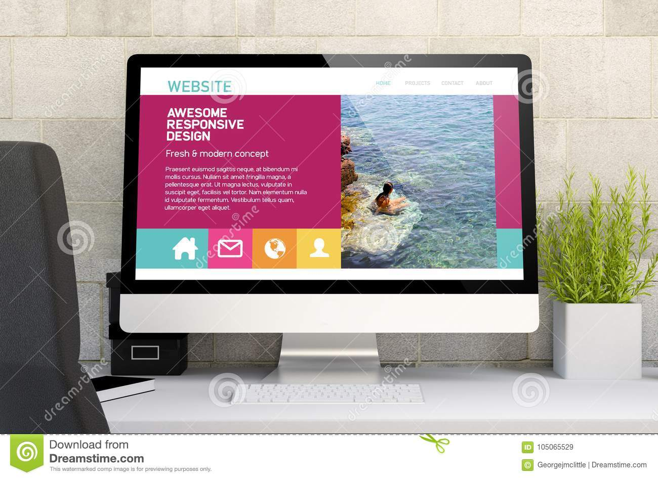 workspace with awesomw responsive design