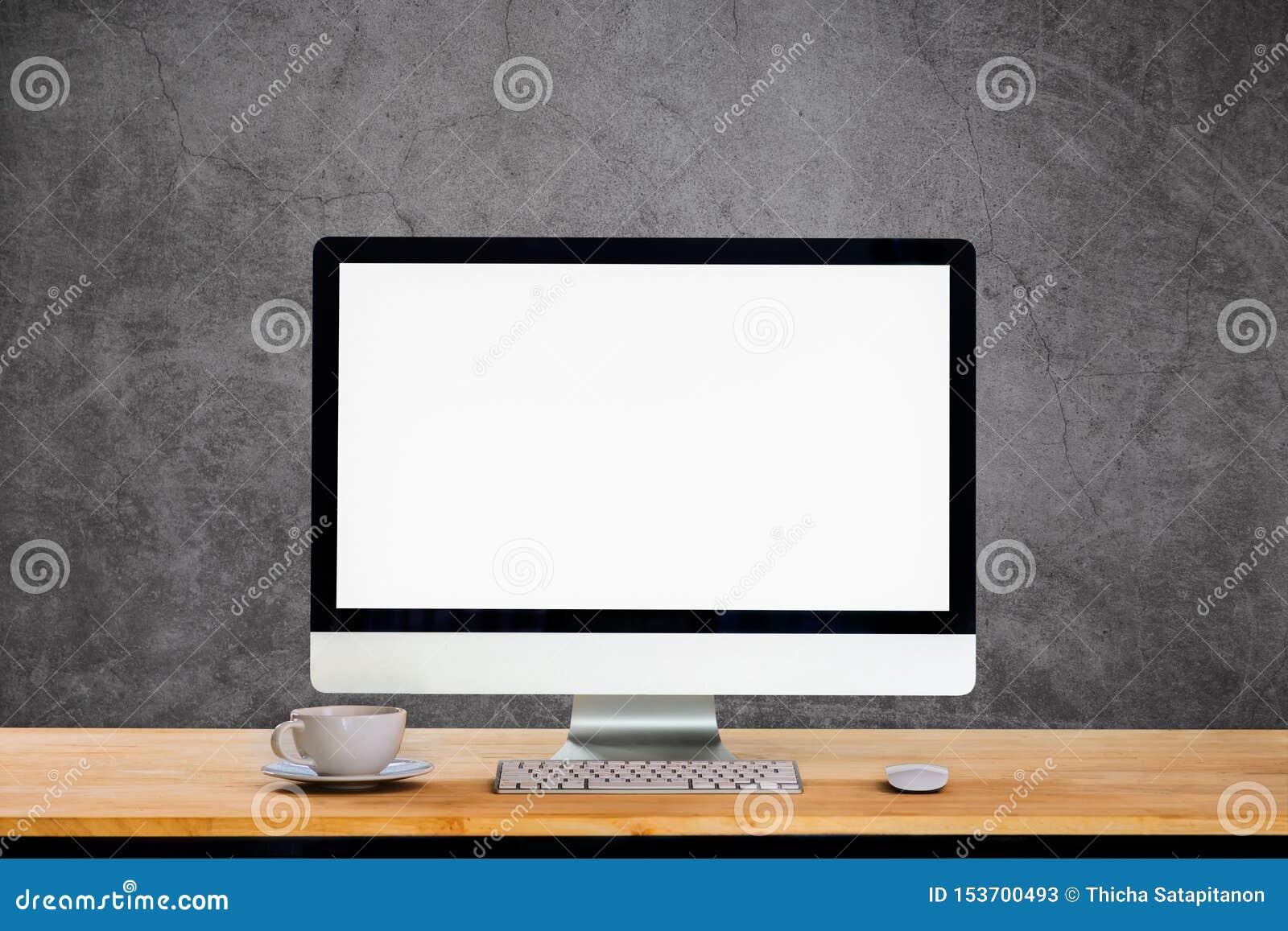 Workspace with desktop computer.