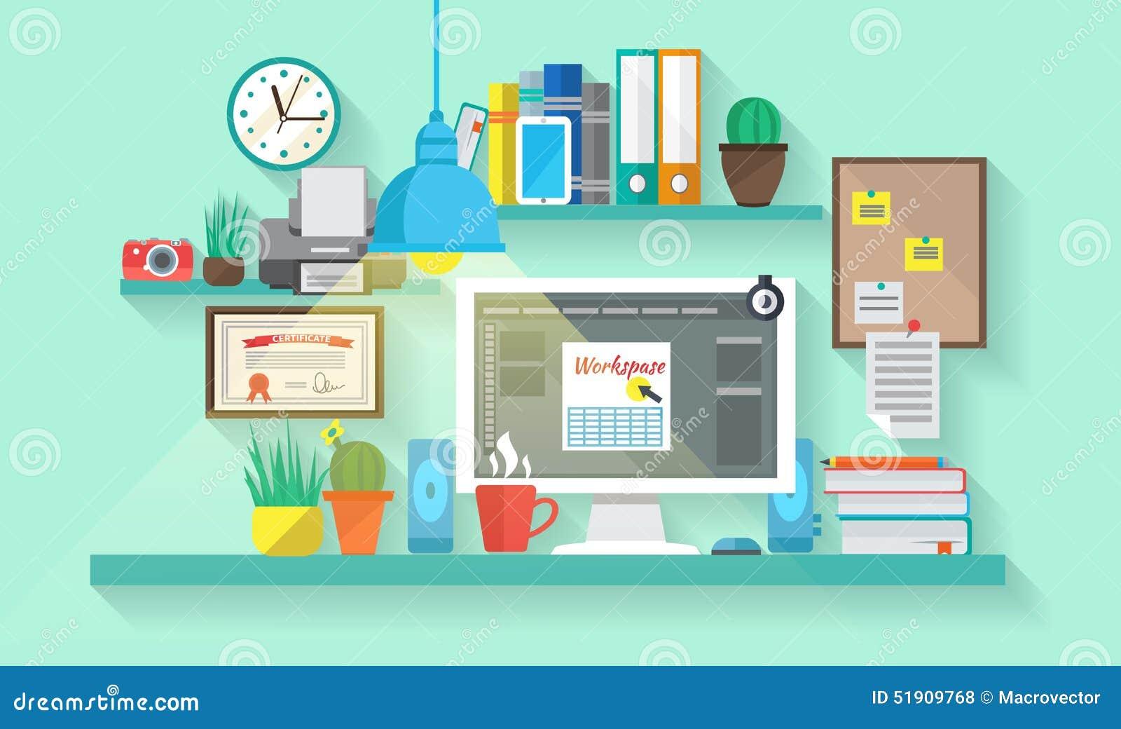 Workspace Stock Illustrations 28 657 Workspace Stock Illustrations