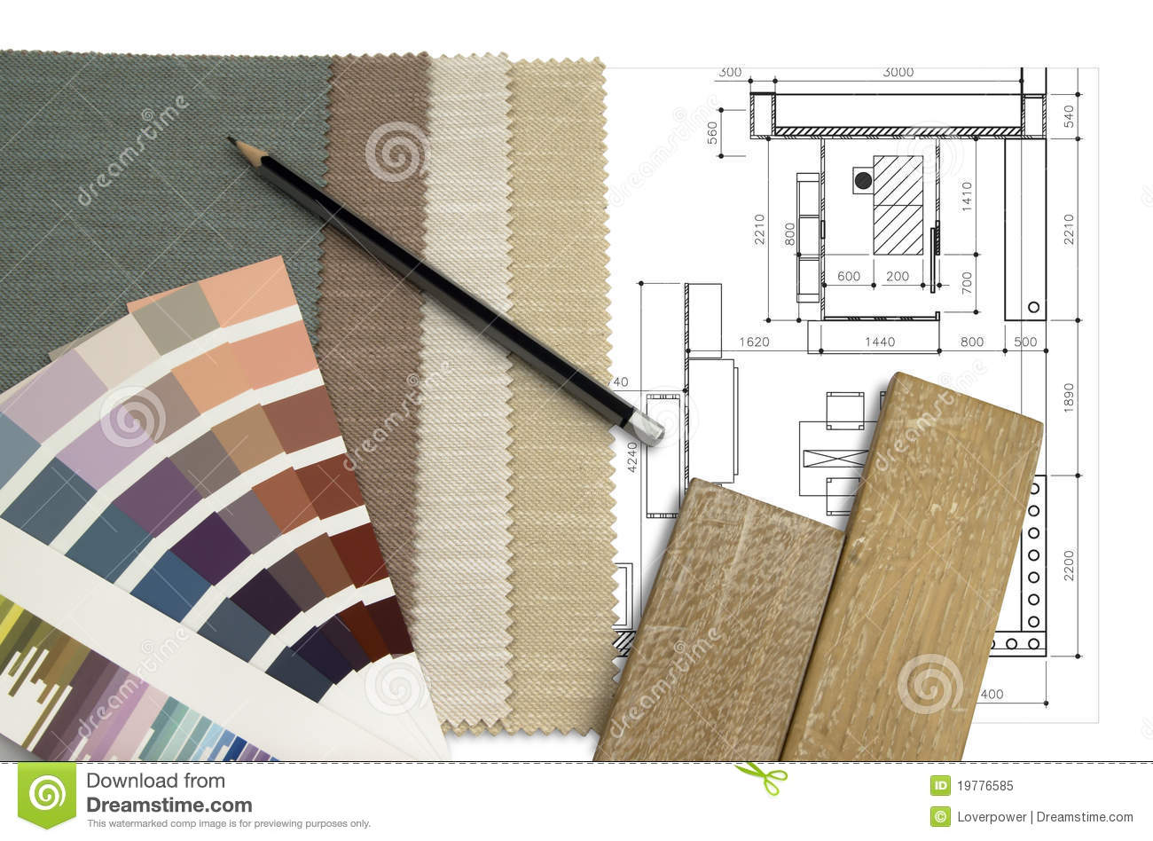 Worktable interior design stock image. Image of design ...
