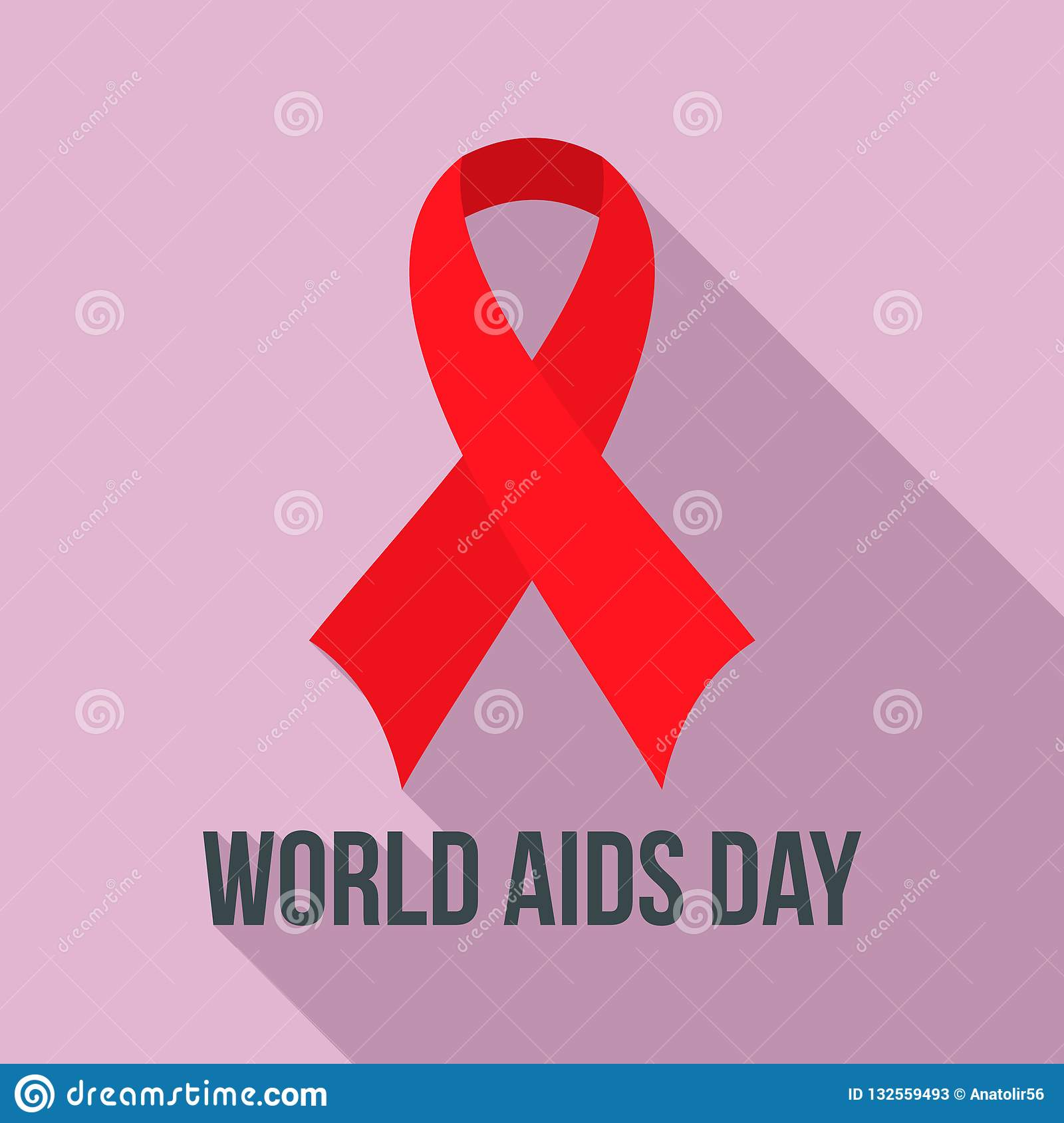 World Aids Day Charity Logo Set, Flat Style Stock Vector ...