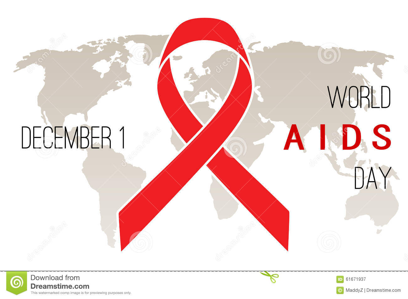 World AIDS Day poster stock vector. Illustration of ...