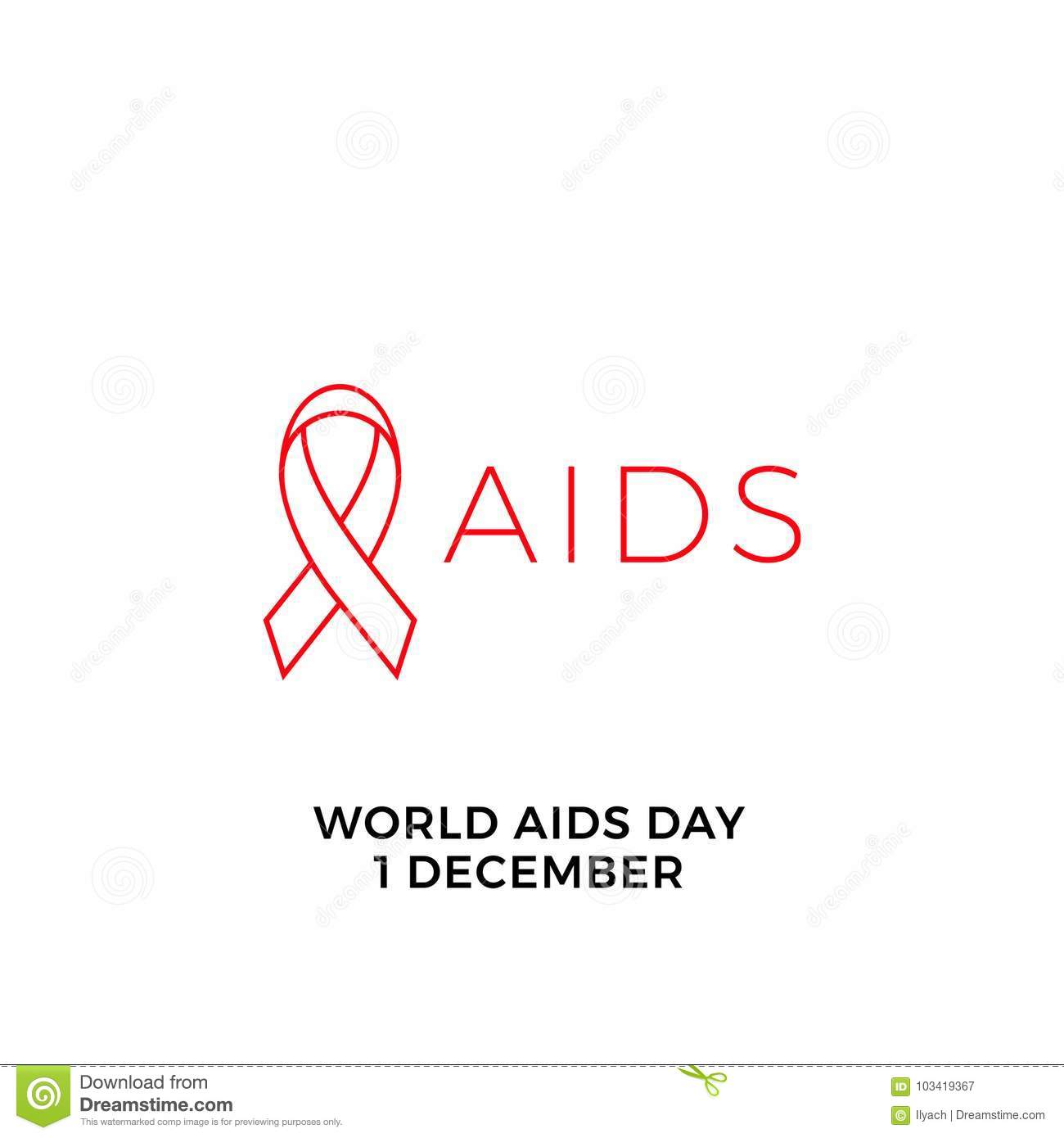 World Aids Day Red Ribbon Icon For 1 December Hiv And Aids Awareness