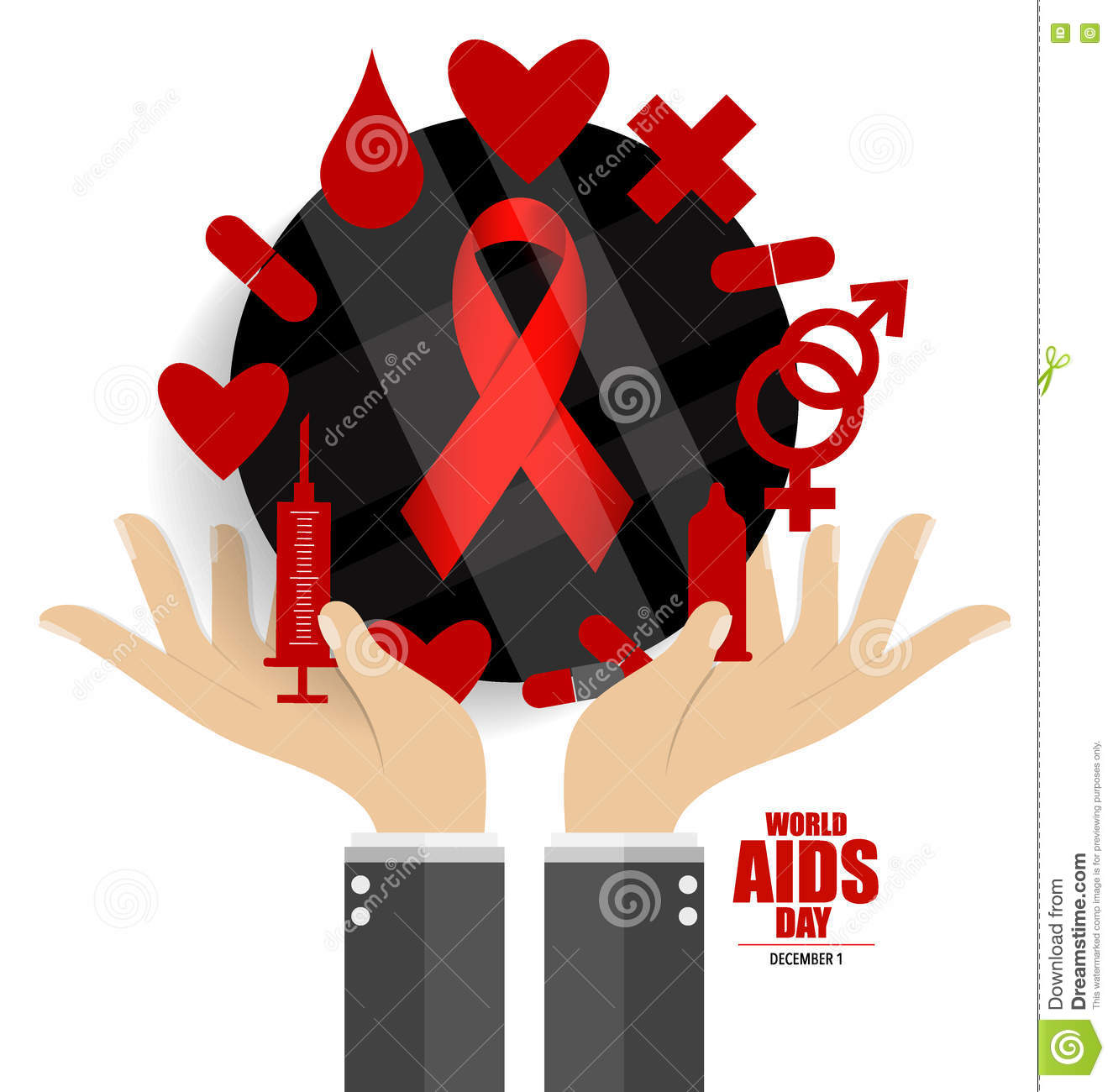 World AIDS Day. 1st December World Aids Day Poster. Vector ...