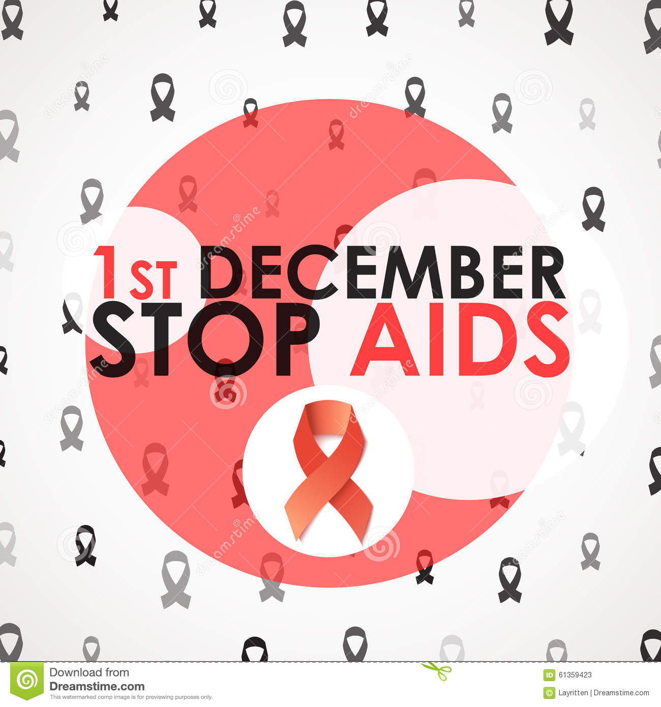 World Aids Day. Stop Aids. 1th December. Brochure Against ...