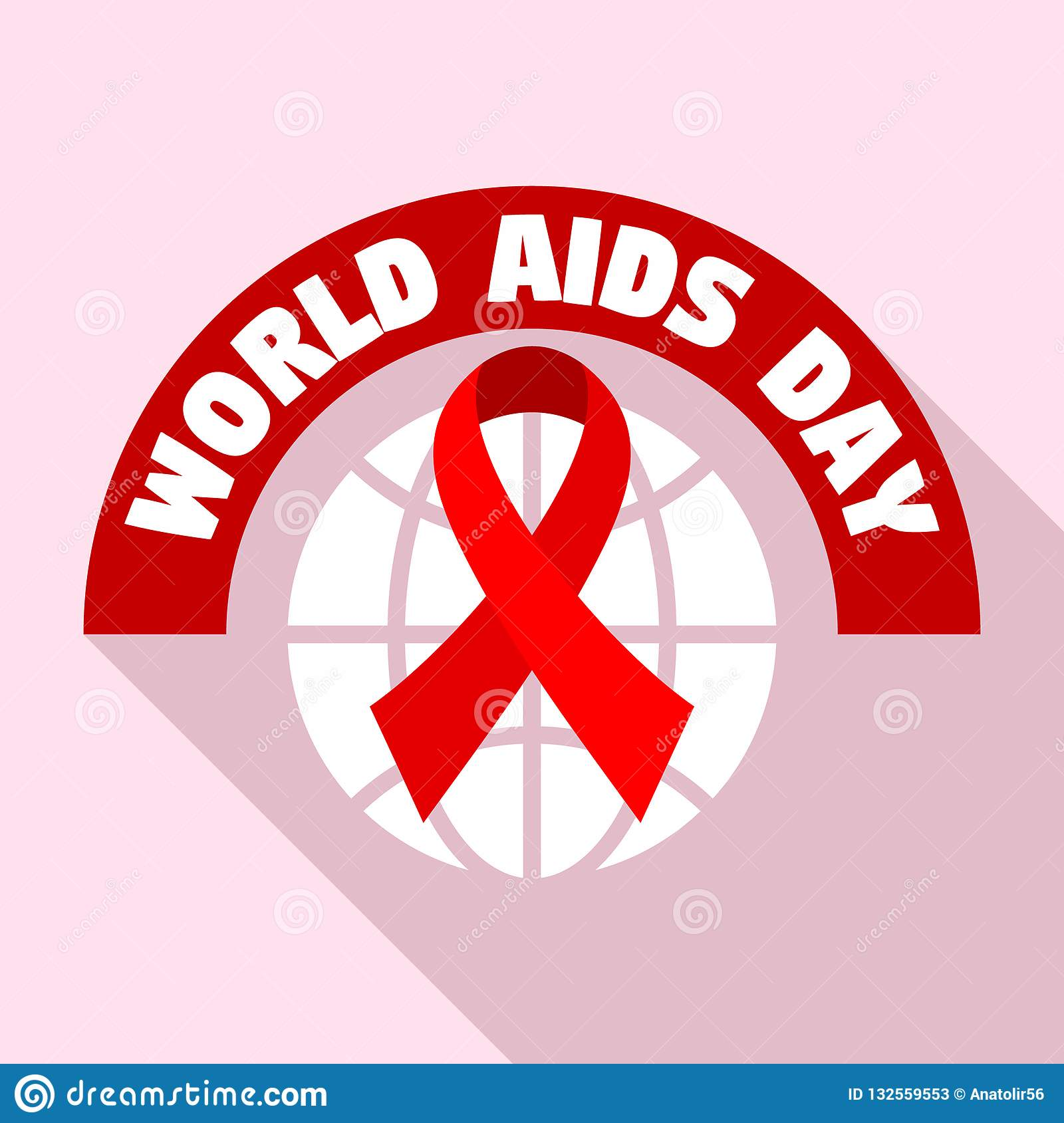 World Aids Day Tolerance Logo Set, Flat Style Stock Vector ...