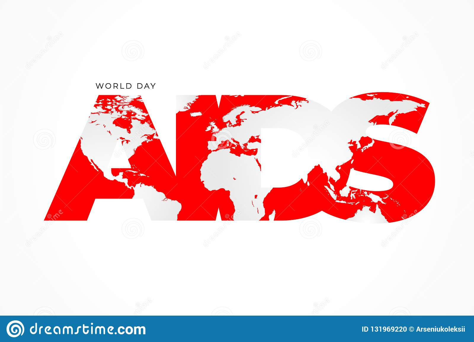 World AIDS Day Typographic Poster For HIV National ...