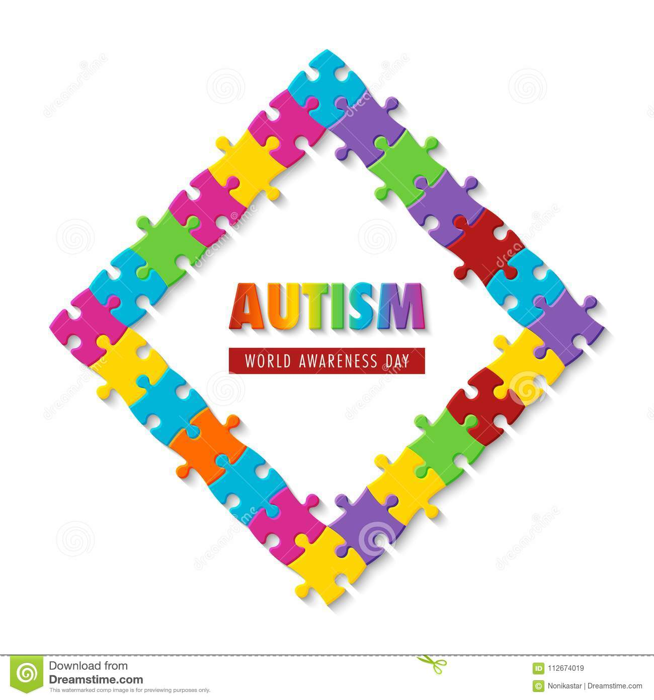 Autism Awareness Day Stock Vector Illustration Of Disorder 112674019