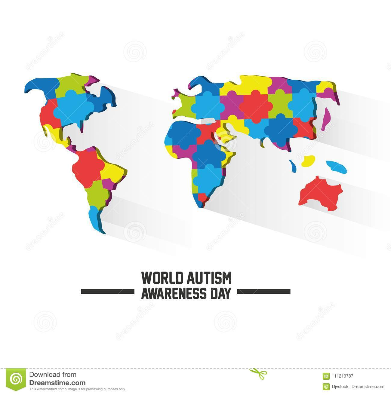 World Autism Awareness Day Design Stock Vector   Illustration of