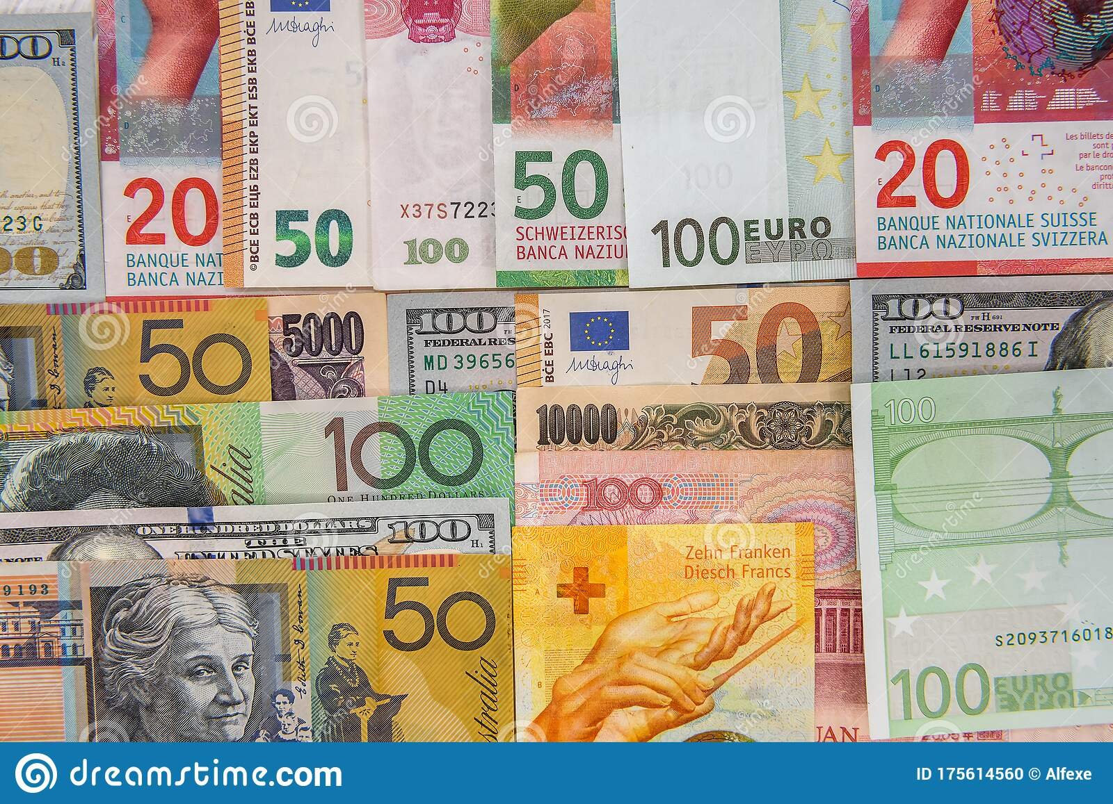 World Banknotes Collection In Rows As Background Stock Photo Image Of Payment Exchange 175614560