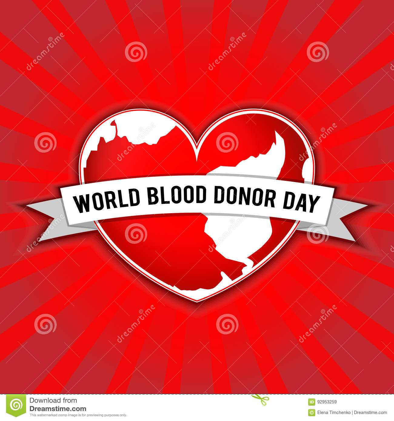 World Blood Donor Day Vector Illustration For Holiday 14 June